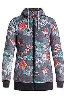 Толстовка утепленная женская Roxy Frost Printed Hawaiian Tropik Para
