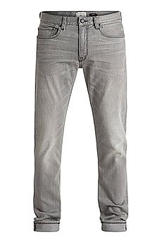 Джинсы узкие Quiksilver Distorsgredam32 Grey Damaged