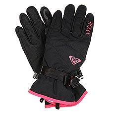 Перчатки сноубордические женские Roxy Rxjettysolidglv True Black