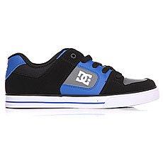 Кеды низкие детские DC Pure Black/Blue/Grey