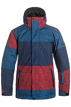 Quiksilver Mission Print Stripe Racing Red