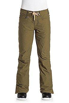Штаны сноубордические женские Roxy Woodrun Military Olive