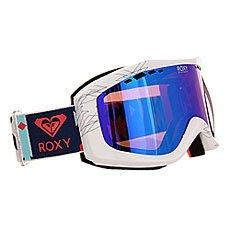 Маска для сноуборда женская   Roxy Sunset Pack Geofluo/Blue Print