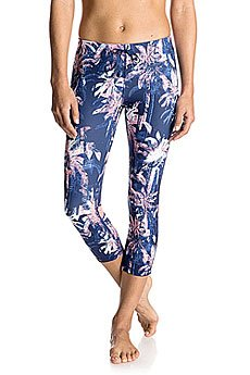 Леггинсы женские Roxy Stay On Capri J Pant Blue Depths Washed