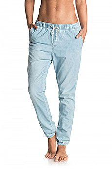 Штаны прямые женские Roxy Easybeachydenim J Pant Light Blue