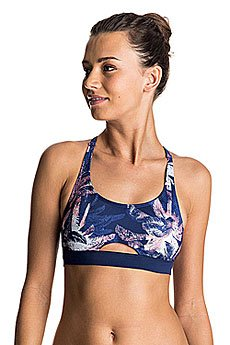 Бюстгальтер женский Roxy Kir Sporty Bra Blue Depths Washed