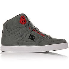 Кеды высокие DC Spartan High Wc Grey/Black/Red