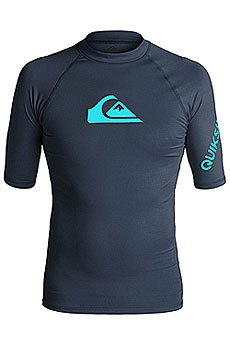 Гидрофутболка Quiksilver All Time Ss Navy/ Blue Danube