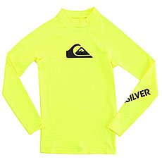 Гидрофутболка детская Quiksilver All Time Boy Ls Safety Yellow