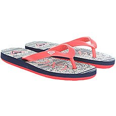 Шлепанцы детские Roxy Rg Tahiti V Red/White/Blue