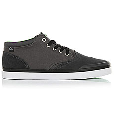 Кеды высокие Quiksilver Verant Mid Grey/White/Green