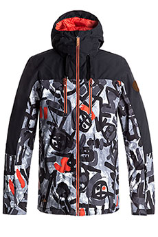 Куртка утепленная Quiksilver Mission Bloc Arkaid Black & White