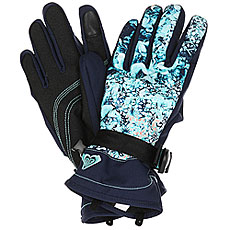 Перчатки женские Roxy Jetty Gloves Aruba Blue Kaleidos