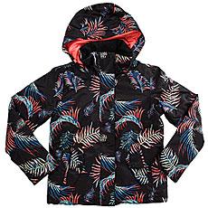 Куртка утепленная детская Roxy Rx Jet Girl True Black_neon Palm