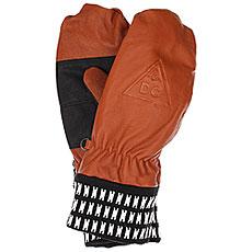 Варежки DC Supply Mitt Leather Brown