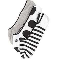 Комлект носков женский Roxy 3 Пары No Show Socks Anthracite