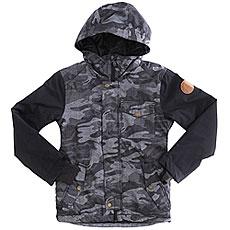 Куртка утепленная детская Quiksilver Ridge Black Grey Camokazi