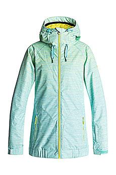 Куртка утепленная женская Roxy Valleyhoodie Lemon Tonic Space