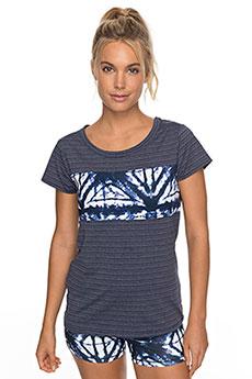 Футболка женская Roxy Easy Game Tee Dress Blues Geometri