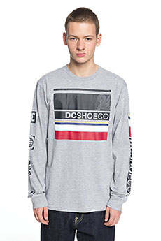 Лонгслив DC Mad Racer Grey Heather