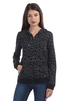 Толстовка классическая женская Roxy Trippin Printed True Black Dots For