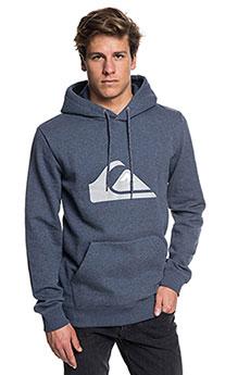 Толстовка кенгуру QUIKSILVER Big Logo Hood Real Navy Blazer Heather