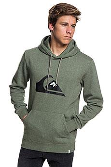 Толстовка кенгуру QUIKSILVER Big Logo Hood Thyme Heather
