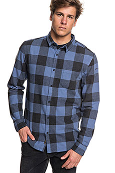 Рубашка в клетку QUIKSILVER Motherflyfla Bijou Blue Motherfly