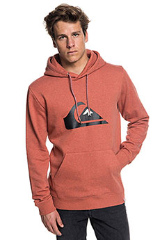 Толстовка кенгуру QUIKSILVER Big Logo Hood Barn Red Heather
