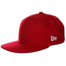 Бейсболка с прямым козырьком DC Skate Fitted Tango Red