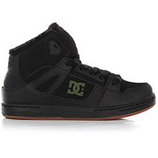 Кеды зимние детские DC Shoes Pure Ht Wnt Black/Green
