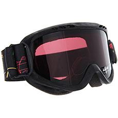 Маска для сноуборда детская QUIKSILVER Flake Goggle Black maoam Tatt