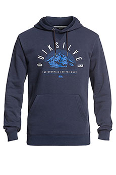 Толстовка кенгуру QUIKSILVER Big Logo Snow Dress Blues