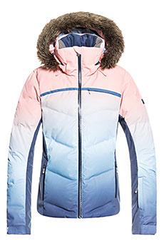 Куртка утепленная женская Roxy Snowstorm Powder Blue_gradient