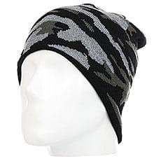 Шапка Quiksilver Knox Beanie Hats Black Grey Camokazi3
