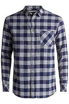 Рубашка в клетку Quiksilver Motherflyfla Medieval Blue3