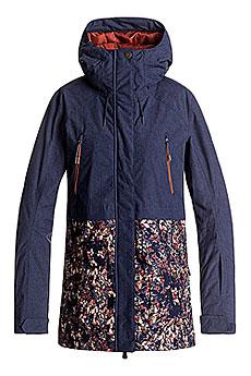 Куртка сноубордическая женская Roxy Tribe Peacoat_waterleaf2