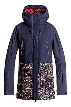 Куртка утепленная женская Roxy Tribe Peacoat_waterleaf2