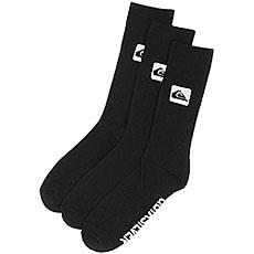 Комплект носков QUIKSILVER 3 Crew Pack Black