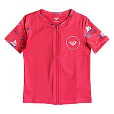 Гидрофутболка детская Roxy Shortbreak Rouge Red Tropicool2