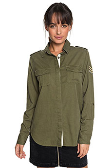Рубашка женская Roxy Militaryinfluen Burnt Olive1