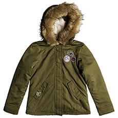 Куртка зимняя детская Roxy Feel The Sun Burnt Olive1