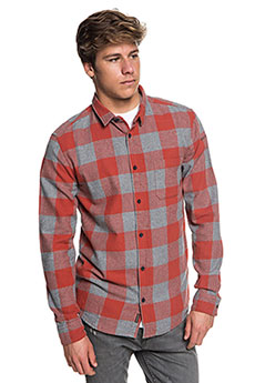 Рубашка в клетку QUIKSILVER Motherflyfla Barn Red Motherfly C1