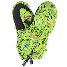 Варежки сноубордические детские QUIKSILVER Indie Kids Mitt Glove Green moam Tatt3