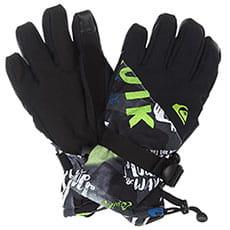 Перчатки сноубордические детские QUIKSILVER Mission Yth Glove Black construct1