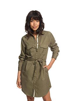 Платье женское Roxy Khaki Sphere Burnt Olive1
