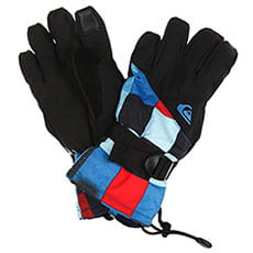Перчатки сноубордические детские QUIKSILVER Mission Yth Gl Dress Blue check Ato1