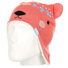 Шапка ушанка детская Roxy Bear Teenie Bea Shell Pink3