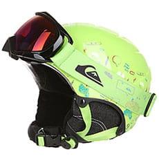 Шлем для сноуборда детский QUIKSILVER Game Pack Lime Green moam Tatt