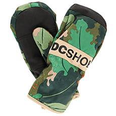 Варежки сноубордические детские DC Franchise Yth Chive Leaf Camo